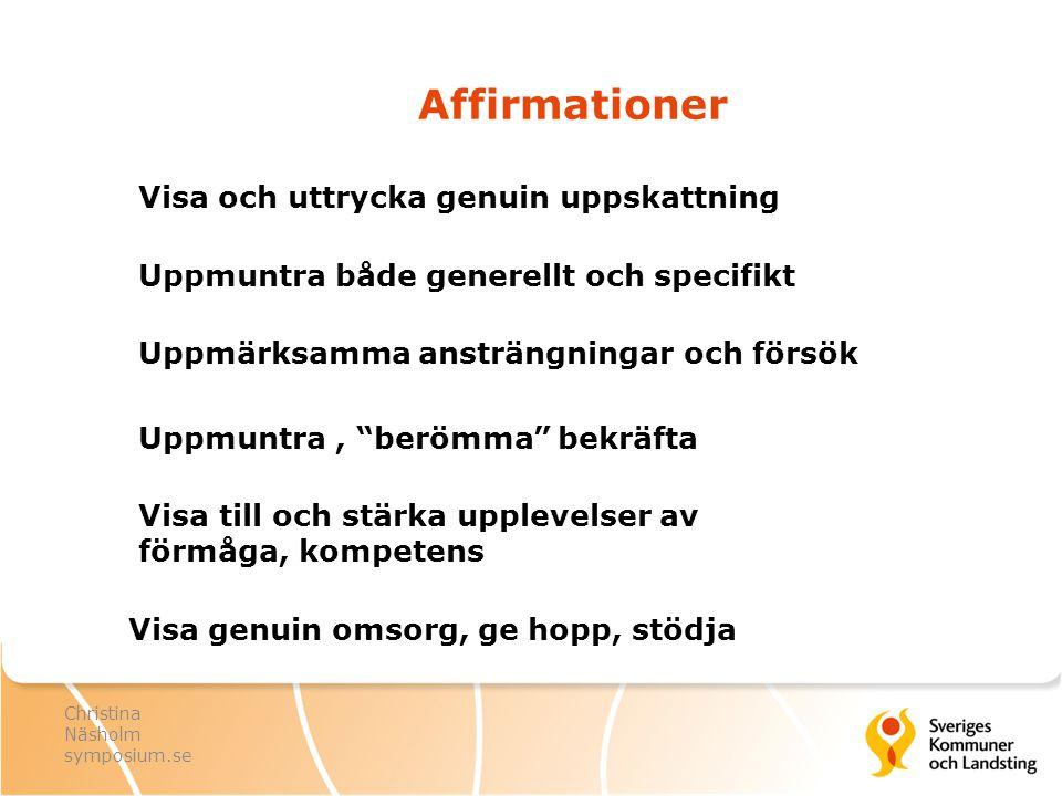 Affirmationer Visa och uttrycka genuin uppskattning