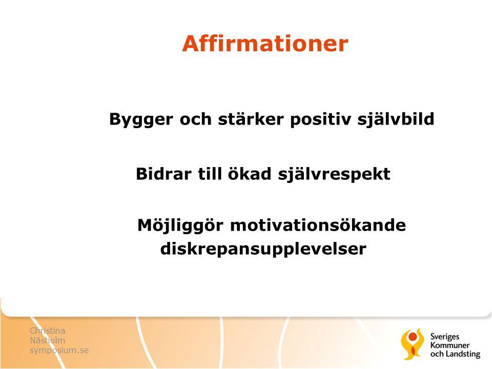 Affirmationer Bygger och stärker positiv självbild