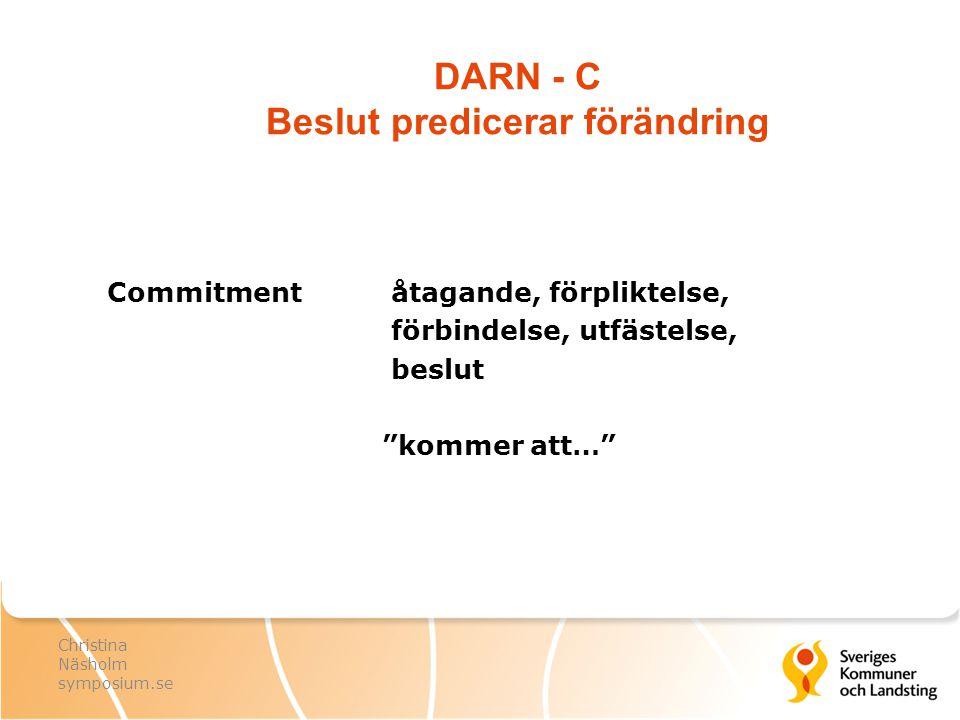 DARN - C Beslut predicerar förändring
