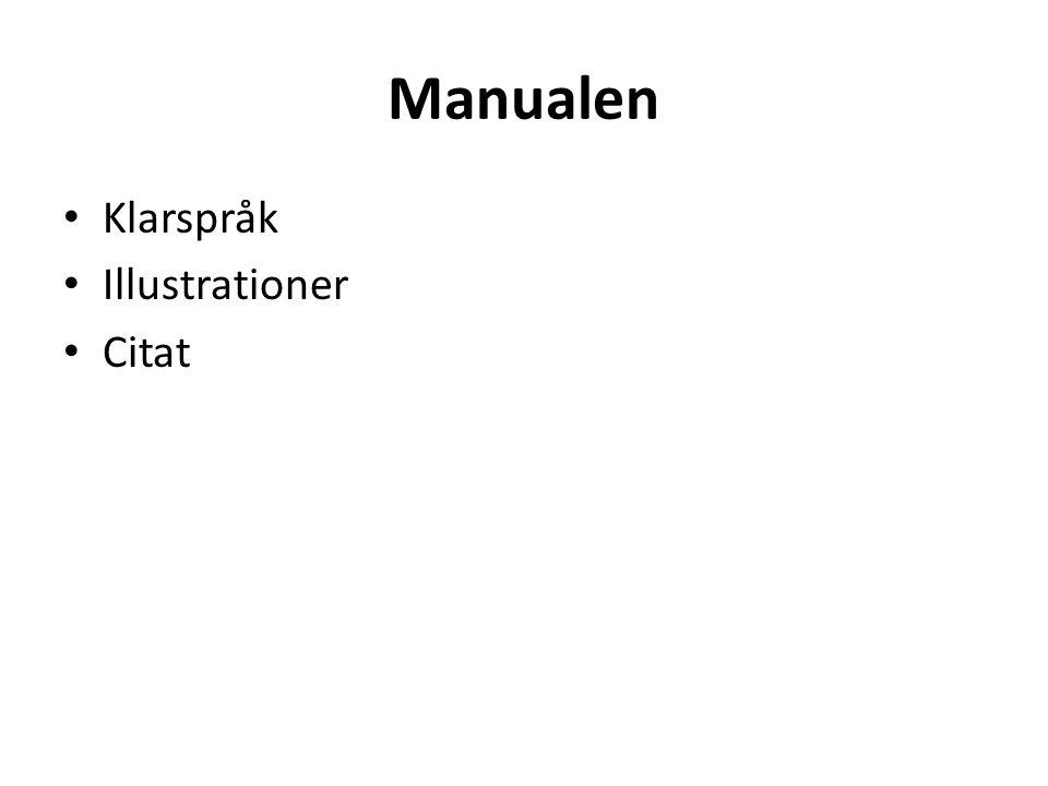 Manualen Klarspråk Illustrationer Citat