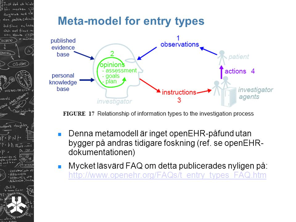 Meta-model for entry types