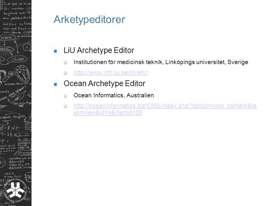 Arketypeditorer LiU Archetype Editor Ocean Archetype Editor