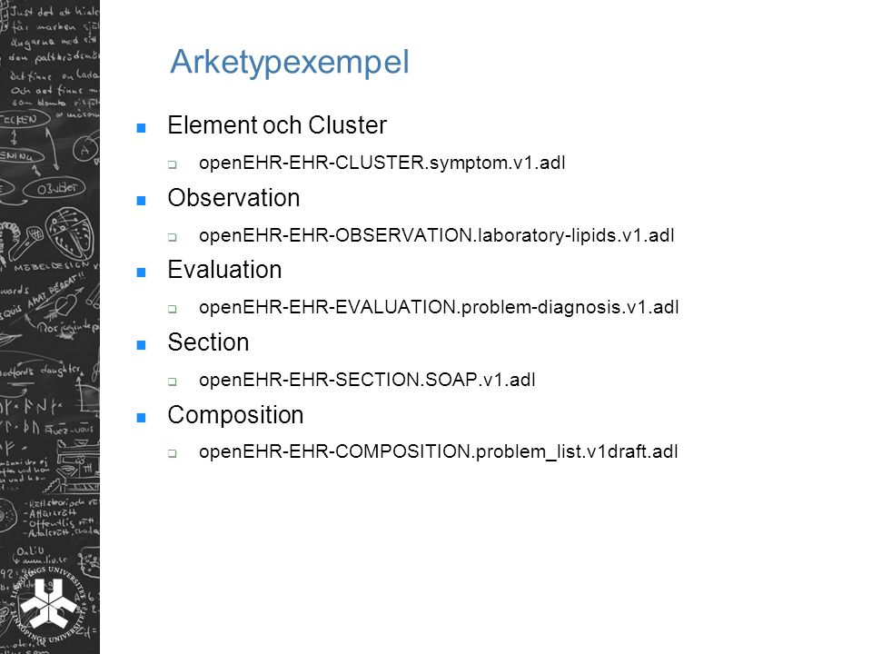 Arketypexempel Element och Cluster Observation Evaluation Section