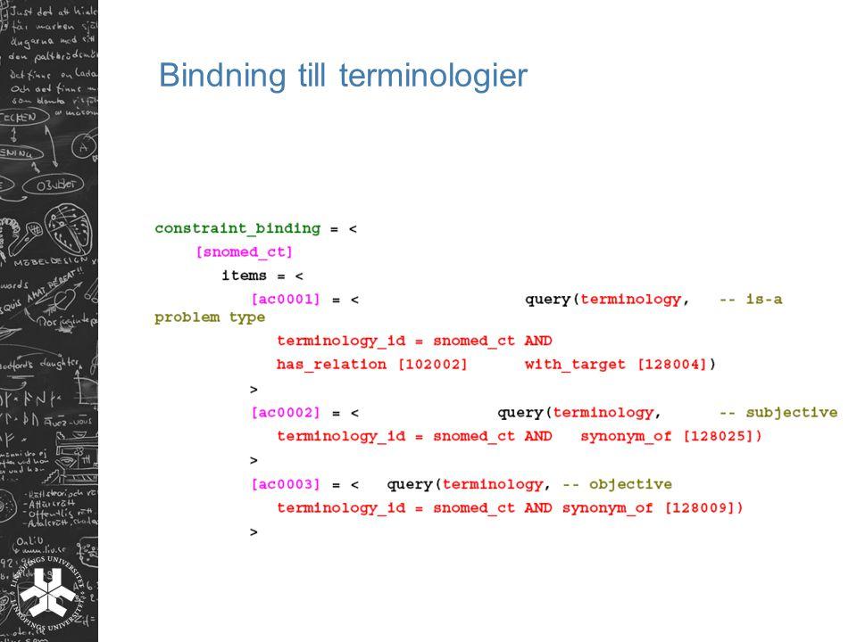 Bindning till terminologier