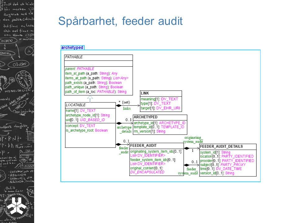 Spårbarhet, feeder audit