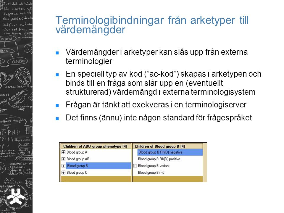Terminologibindningar från arketyper till värdemängder