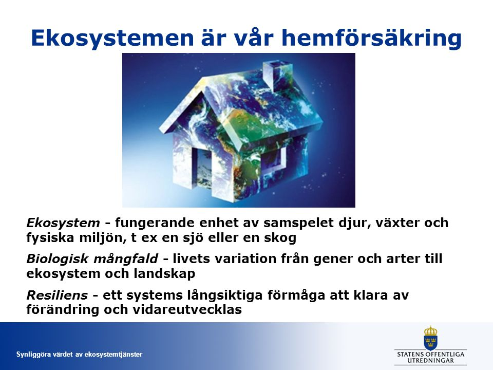 Ekosystemen är vår hemförsäkring