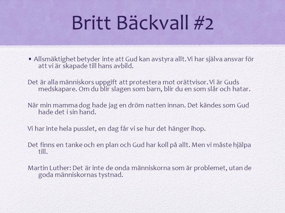 Britt Bäckvall #2