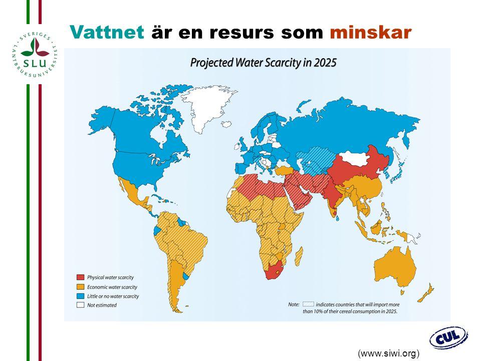 Vattnet är en resurs som minskar
