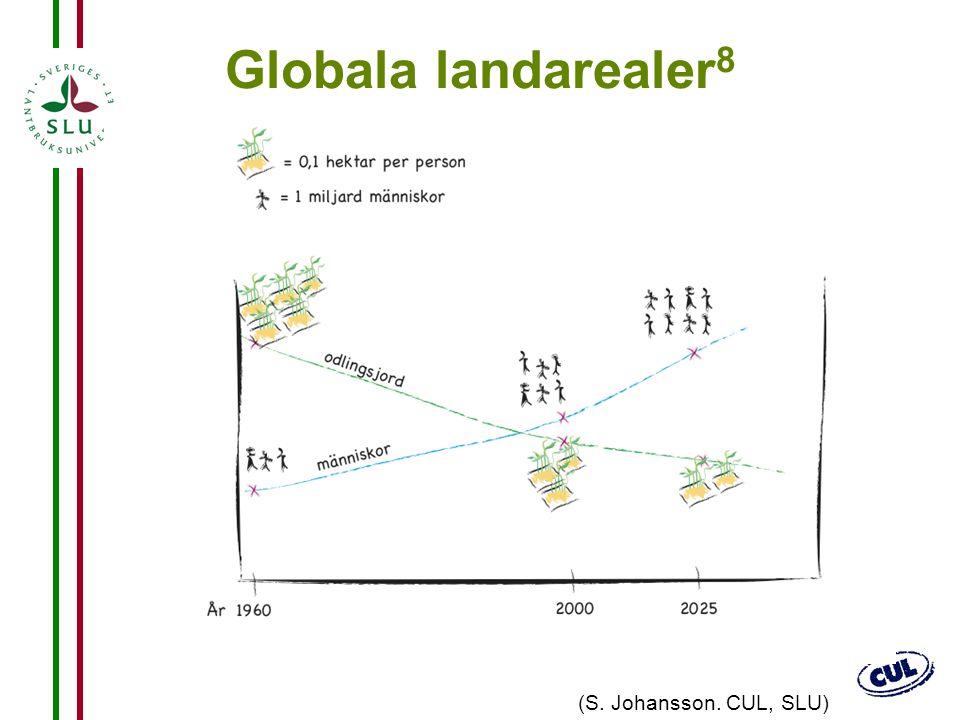 Globala landarealer8 (S. Johansson. CUL, SLU) EN BEGRÄNSAD RESURS!