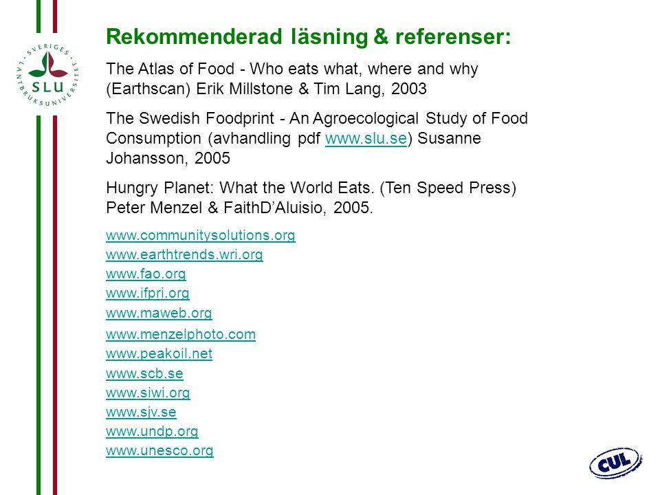 Rekommenderad läsning & referenser: