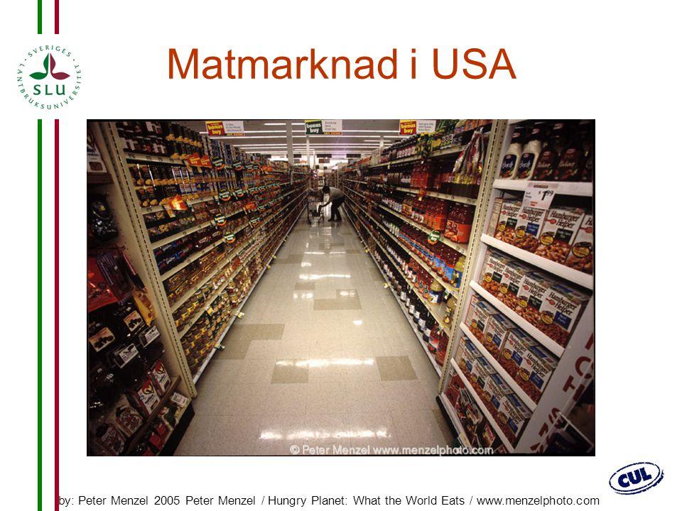 Matmarknad i USA Tro mig. Man går lätt vilse!