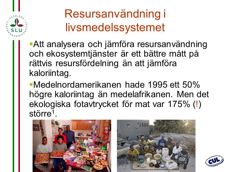 Resursanvändning i livsmedelssystemet