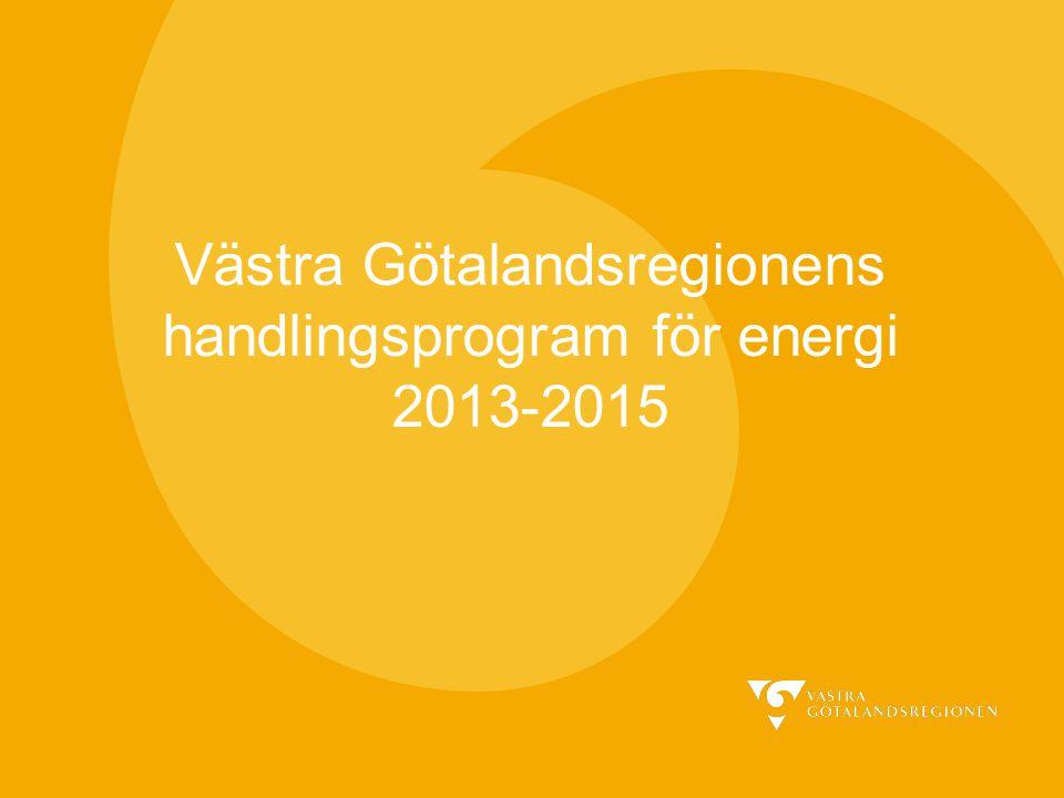 Västra Götalandsregionens handlingsprogram för energi 2013-2015