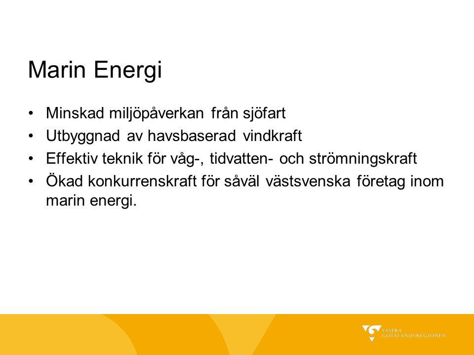Marin Energi Minskad miljöpåverkan från sjöfart