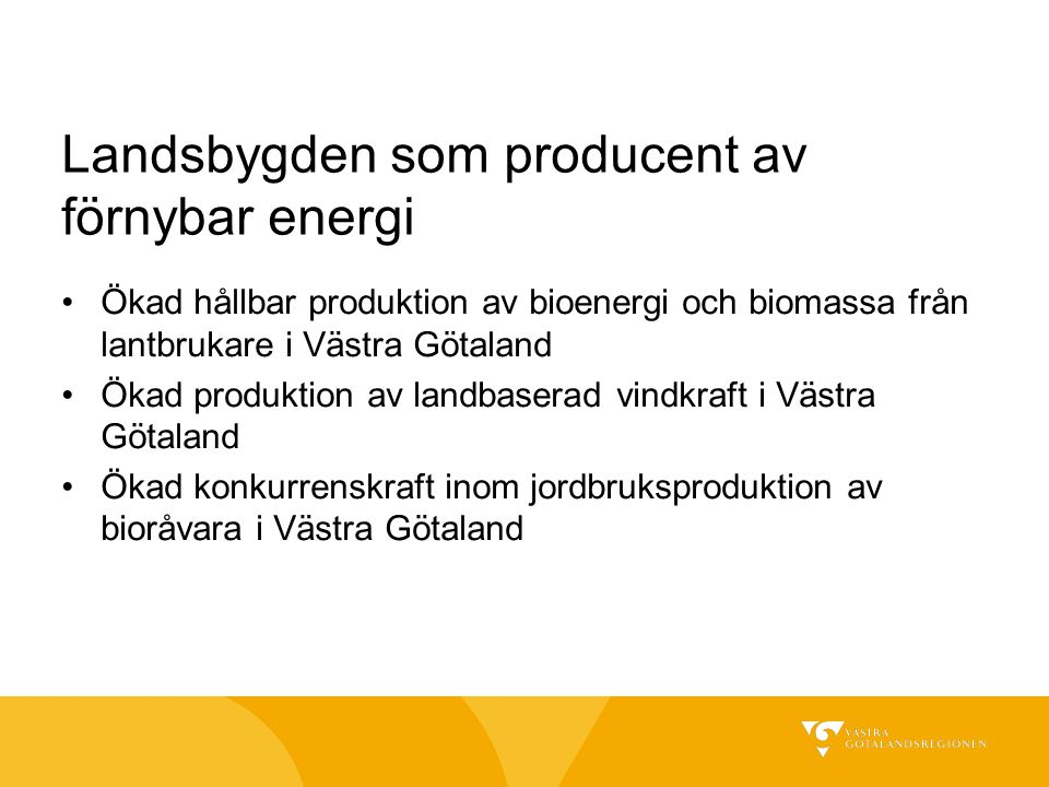 Landsbygden som producent av förnybar energi