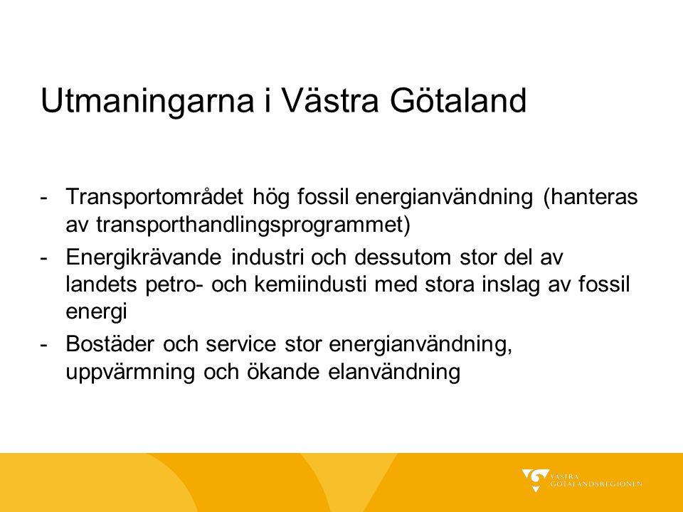 Utmaningarna i Västra Götaland