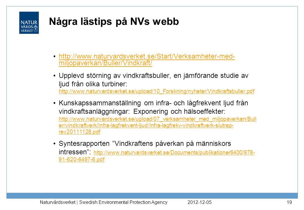 Några lästips på NVs webb