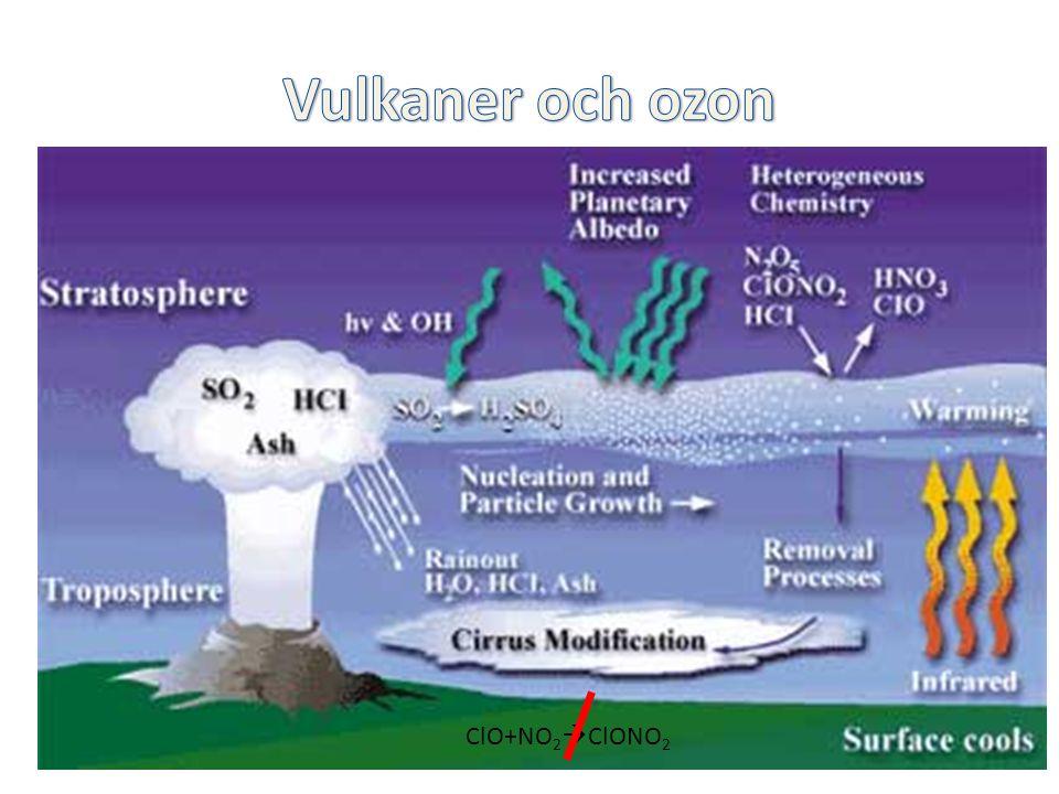 Vulkaner och ozon Injektion av HCl och partiklar i stratosfären