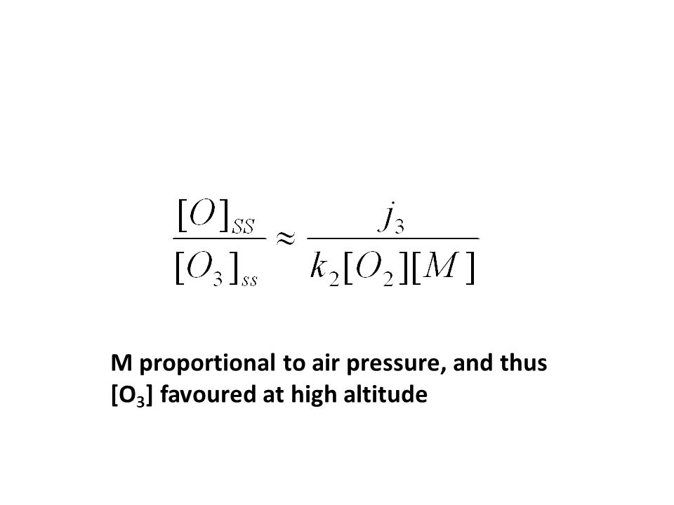 M proportional to air pressure, and thus