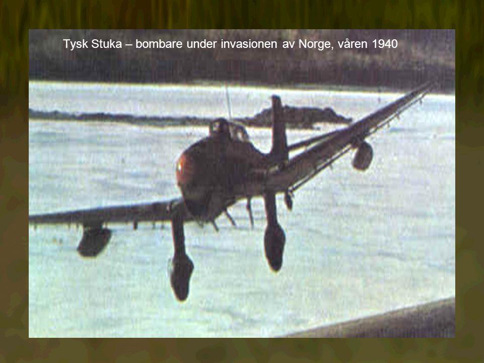 Tysk Stuka – bombare under invasionen av Norge, våren 1940