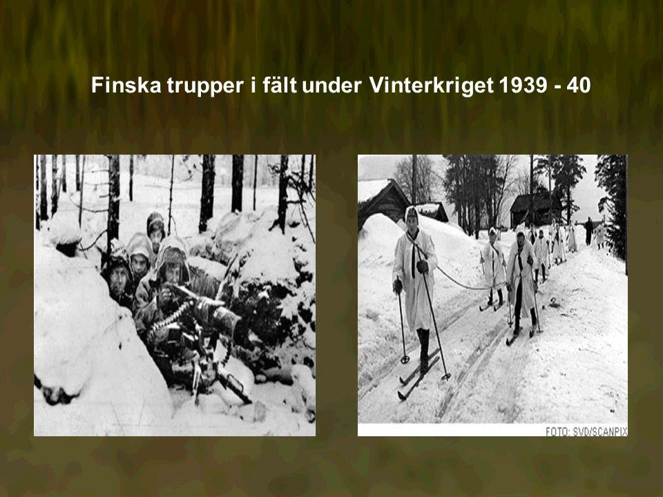 Finska trupper i fält under Vinterkriget 1939 - 40