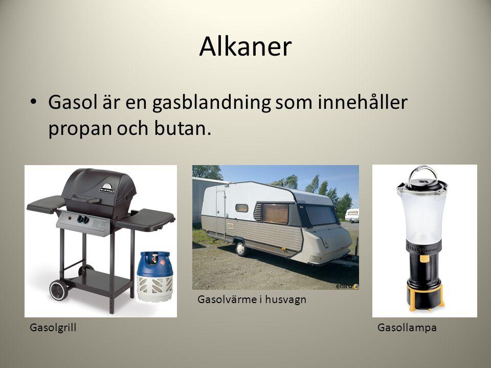 Alkaner Gasol är en gasblandning som innehåller propan och butan.