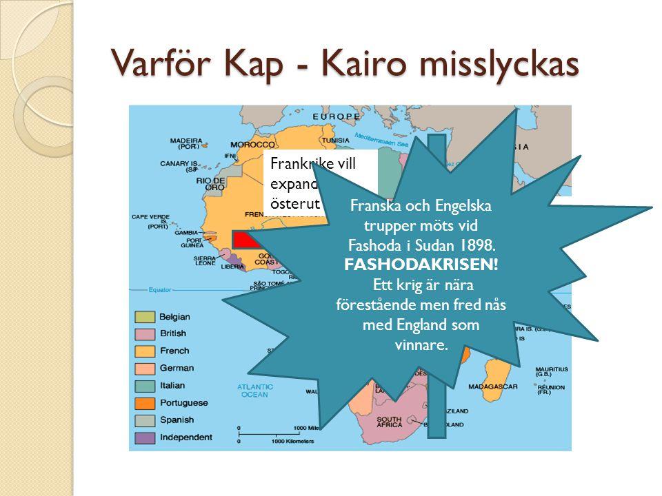 Varför Kap - Kairo misslyckas