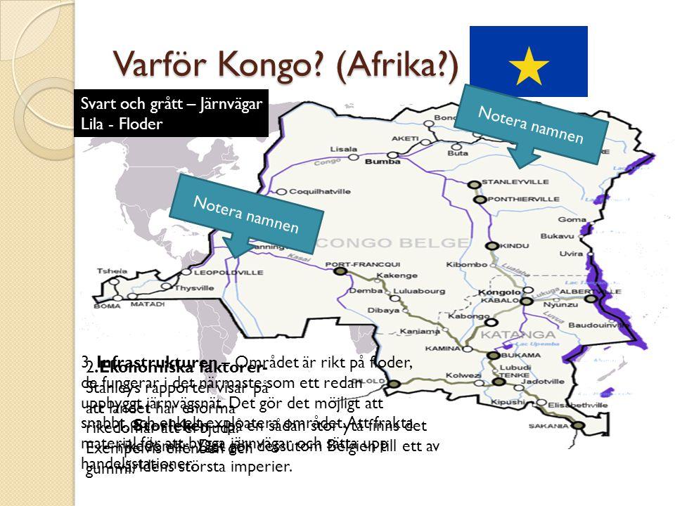 Varför Kongo (Afrika ) Svart och grått – Järnvägar Lila - Floder