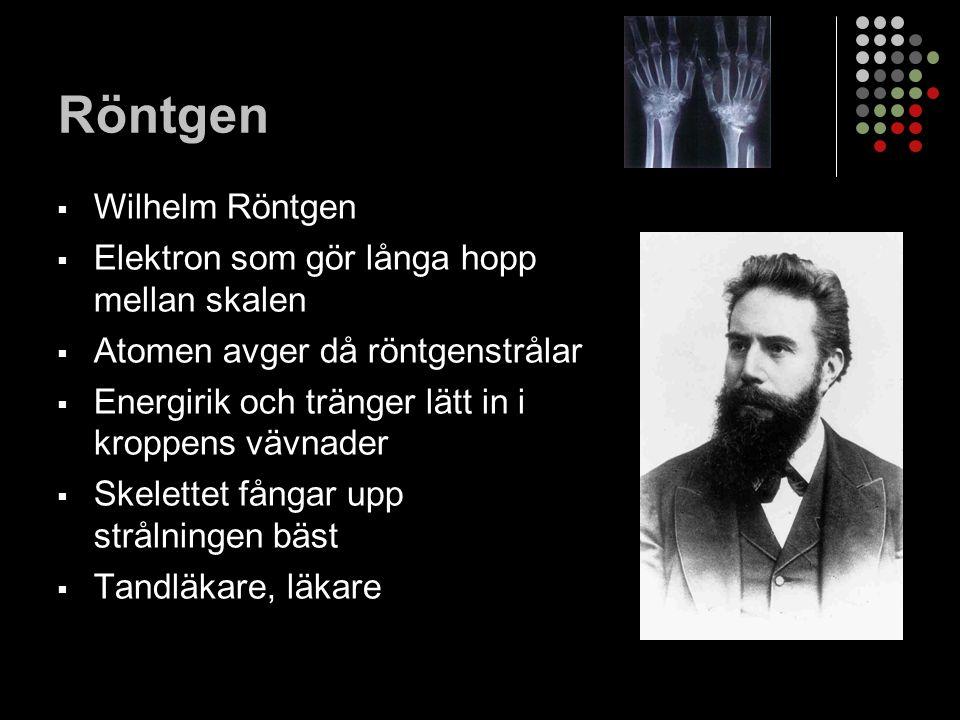 Röntgen Wilhelm Röntgen Elektron som gör långa hopp mellan skalen