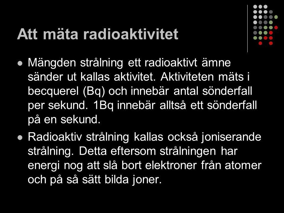 Att mäta radioaktivitet