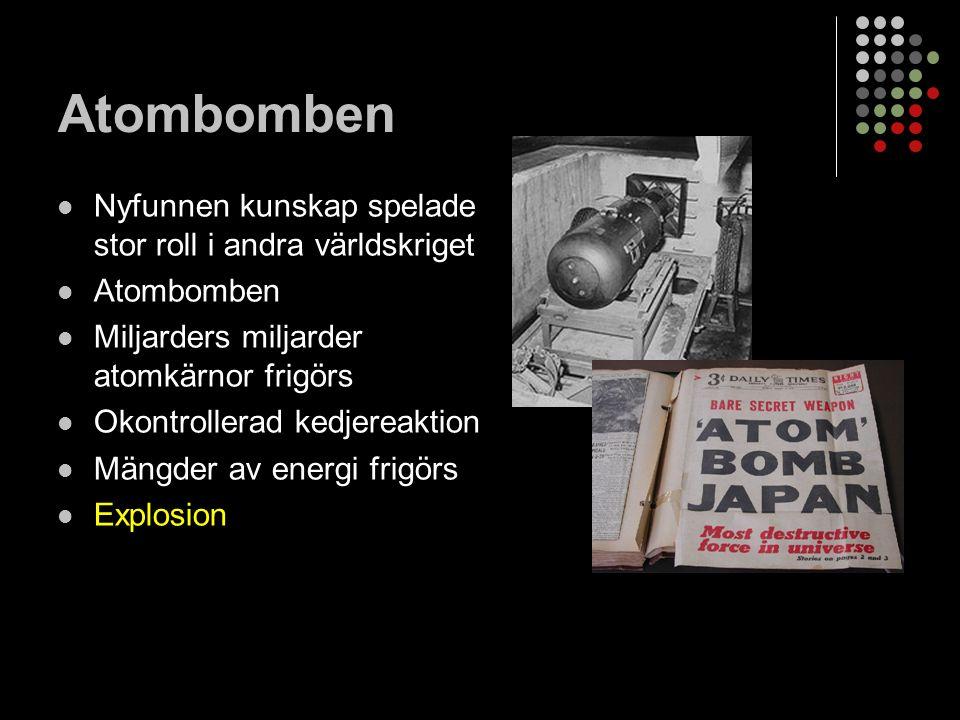 Atombomben Nyfunnen kunskap spelade stor roll i andra världskriget