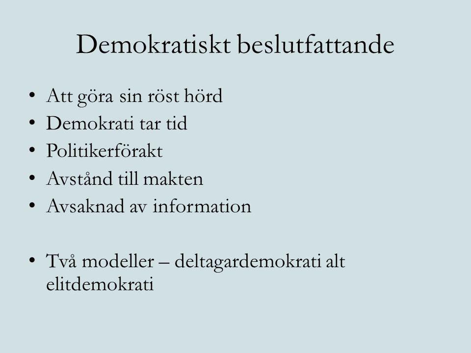 Demokratiskt beslutfattande