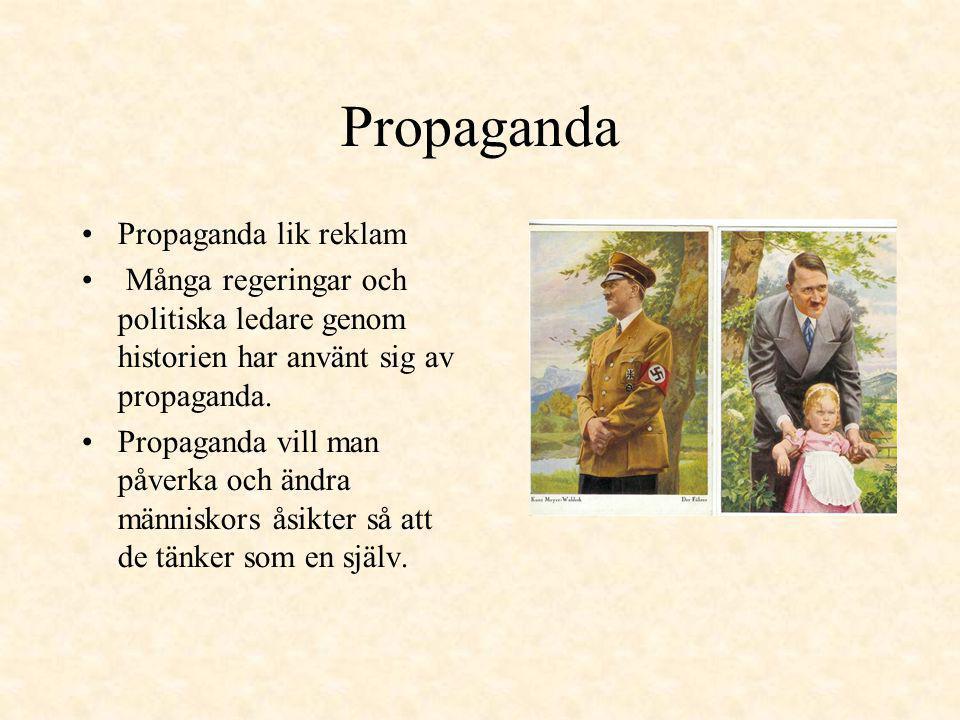 Propaganda Propaganda lik reklam
