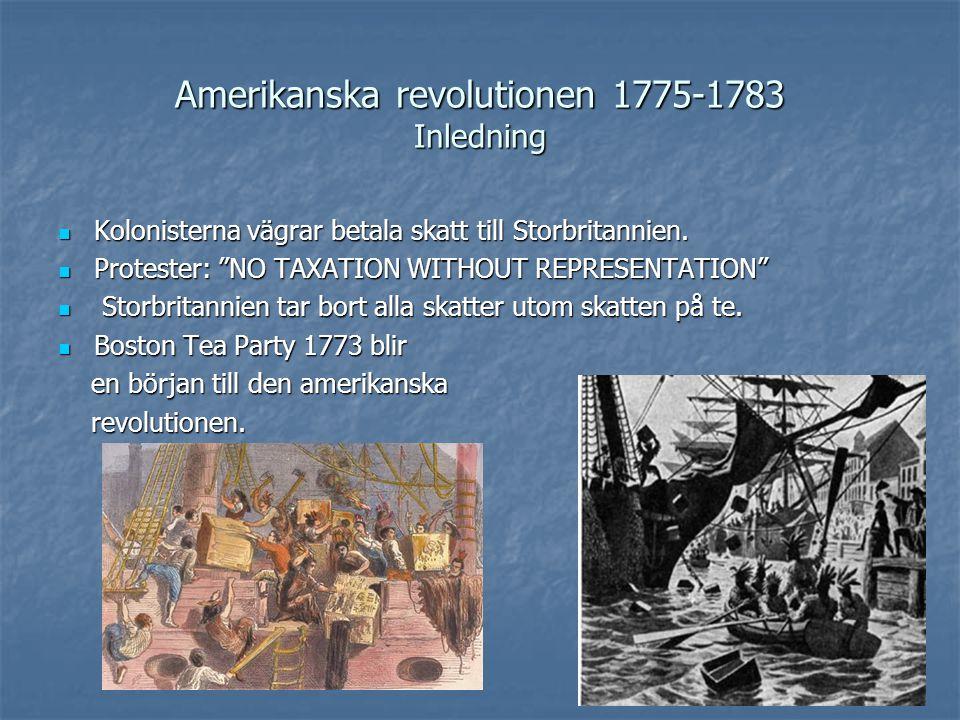 Amerikanska revolutionen 1775-1783 Inledning