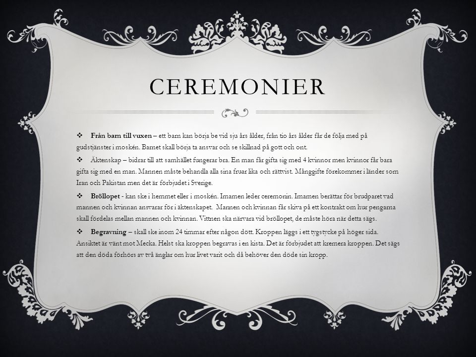 Ceremonier