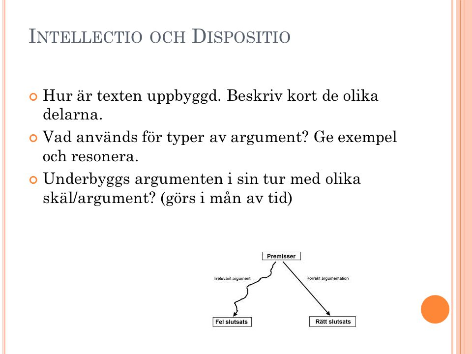Intellectio och Dispositio