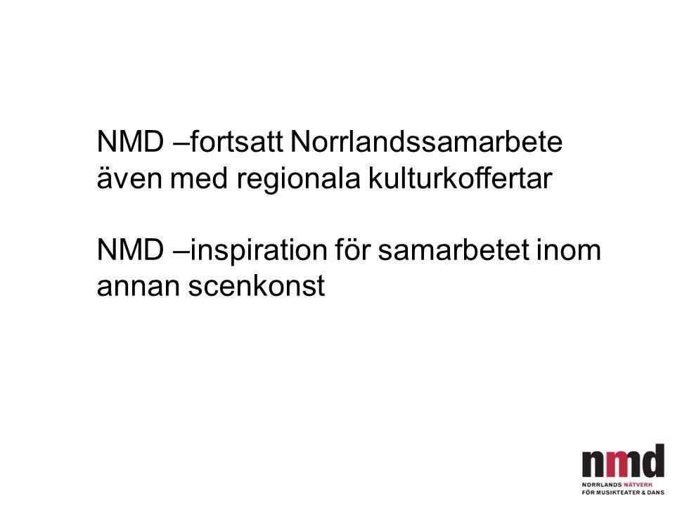 NMD –fortsatt Norrlandssamarbete