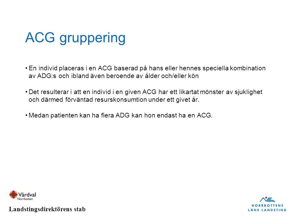 ACG gruppering