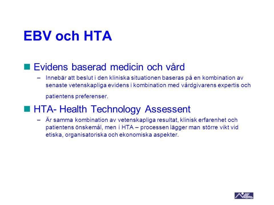 EBV och HTA Evidens baserad medicin och vård