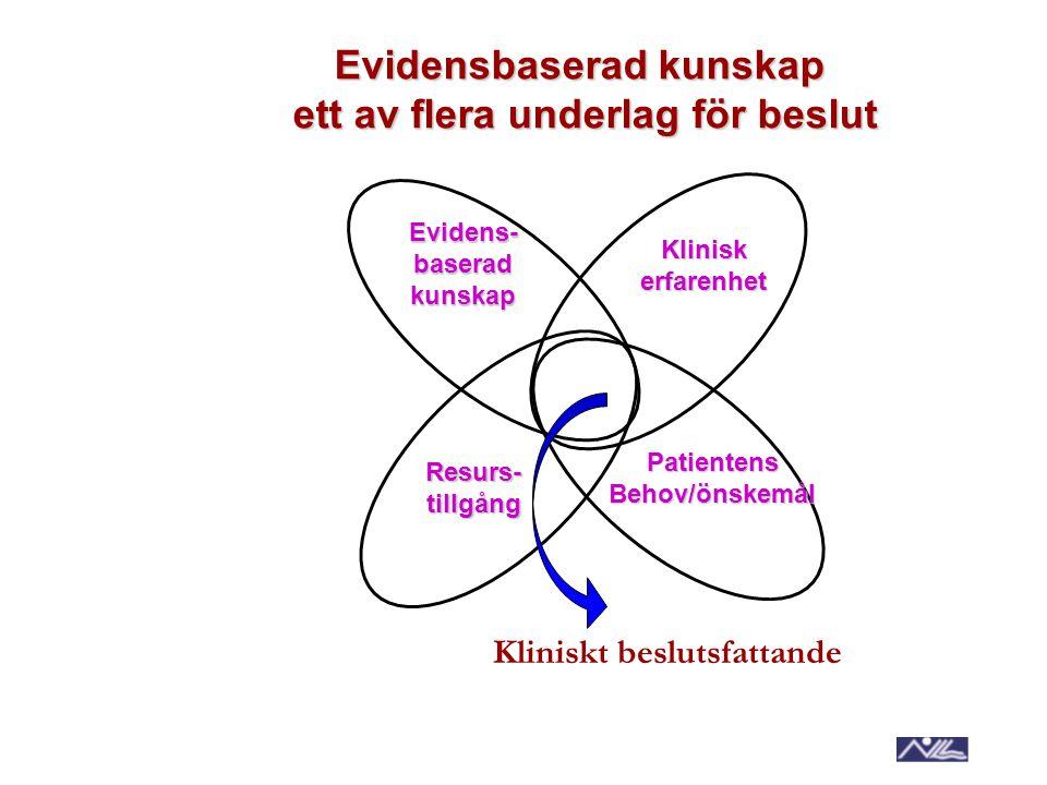 Evidensbaserad kunskap ett av flera underlag för beslut