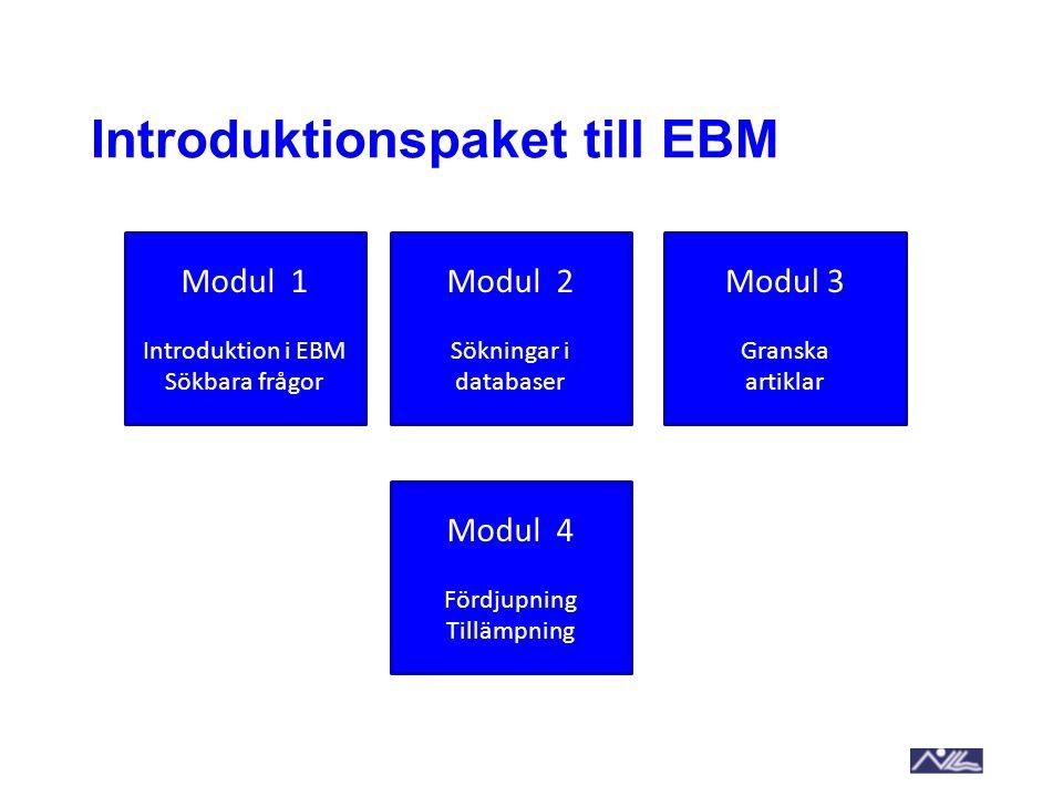 Introduktionspaket till EBM