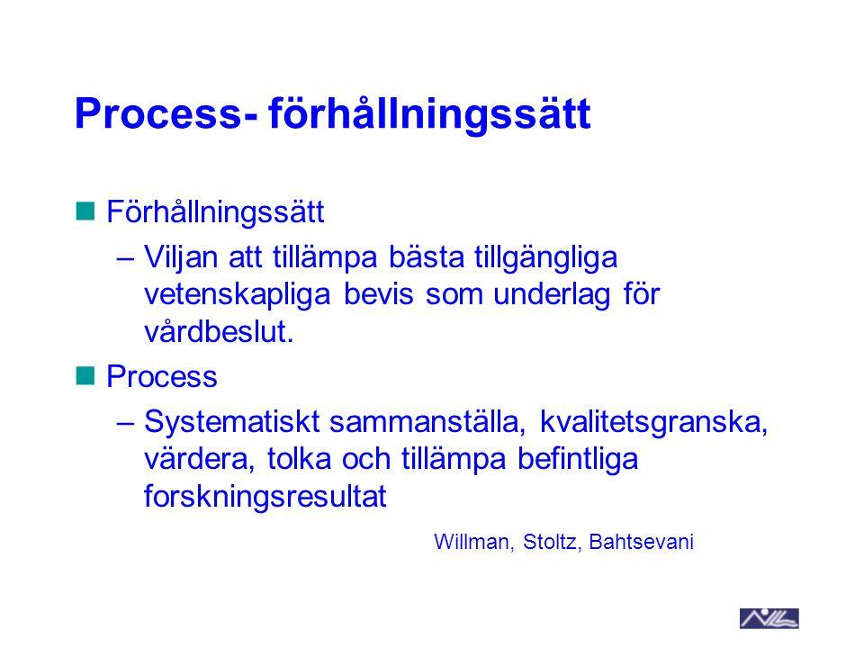 Process- förhållningssätt