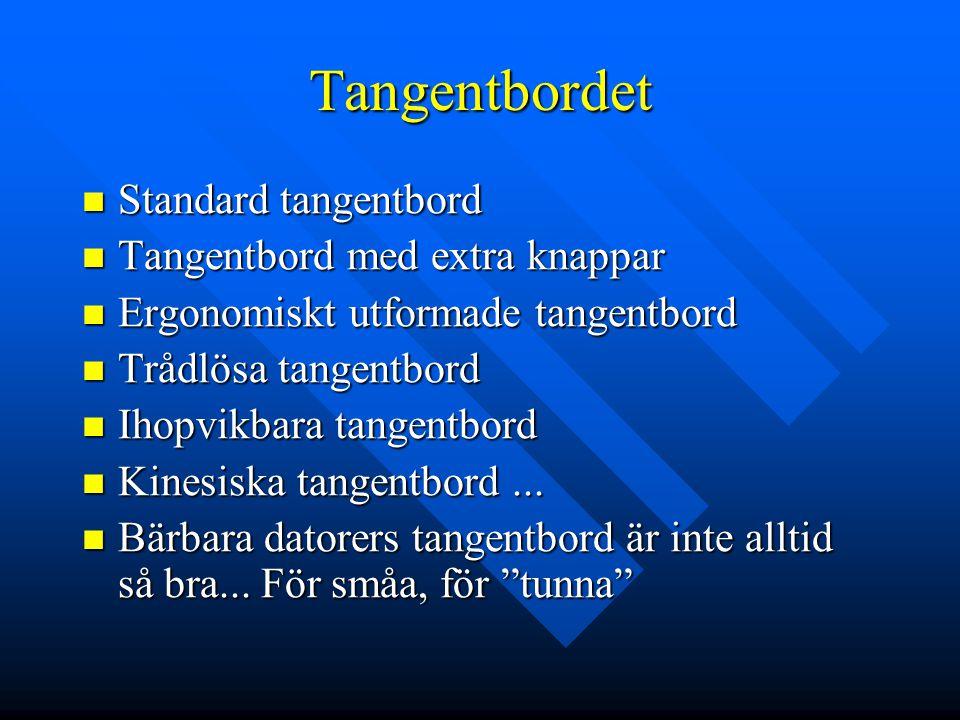 Tangentbordet Standard tangentbord Tangentbord med extra knappar