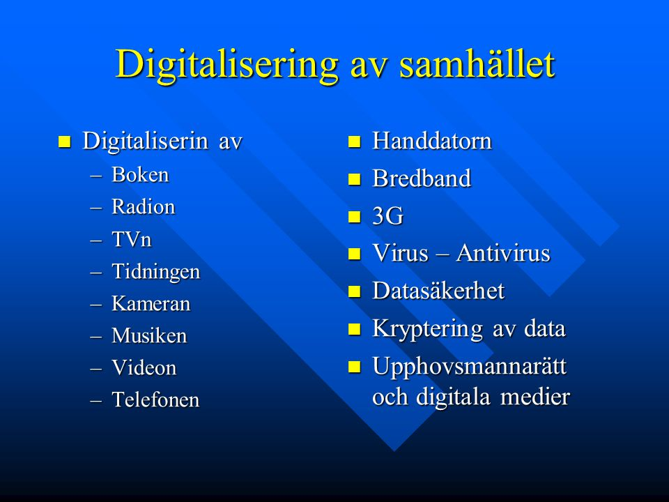 Digitalisering av samhället