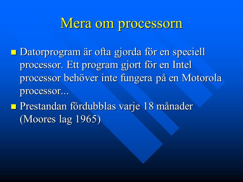 Mera om processorn