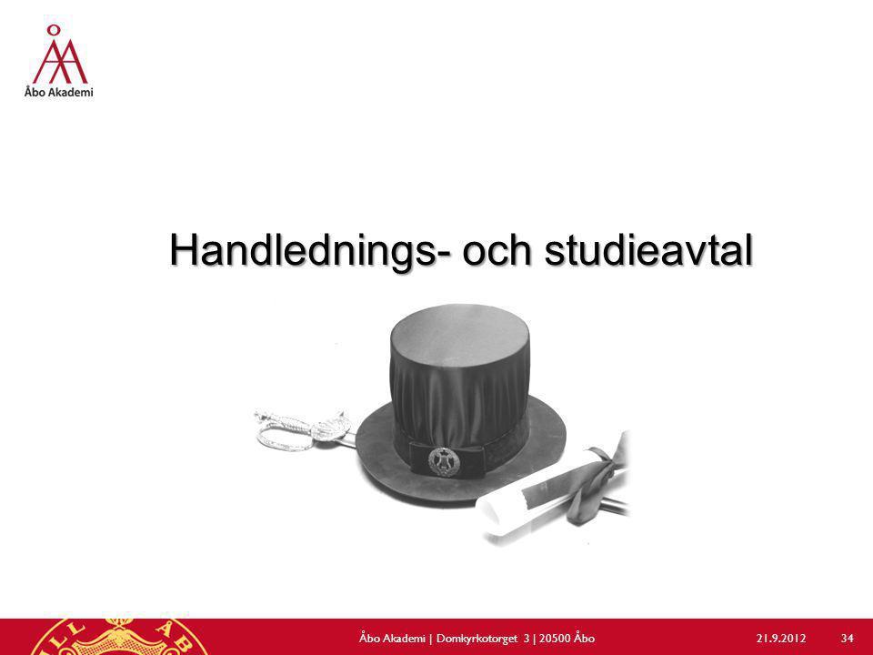 Handlednings- och studieavtal