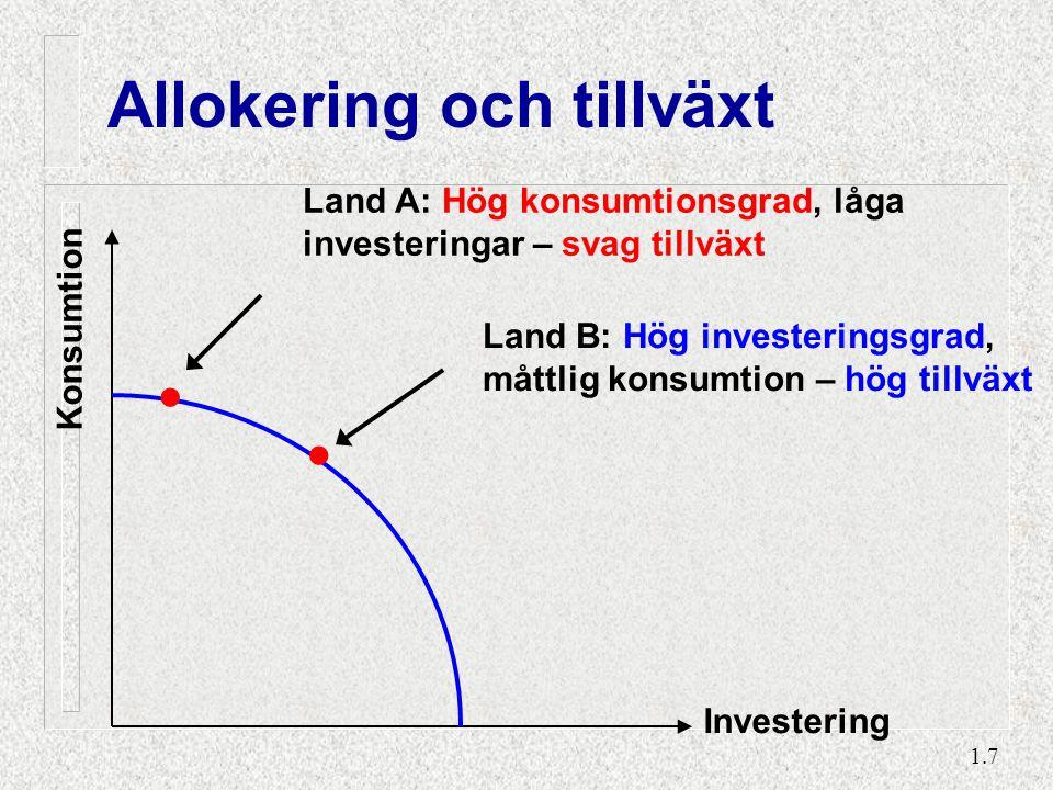 A: Tillväxt i Konsumlandia