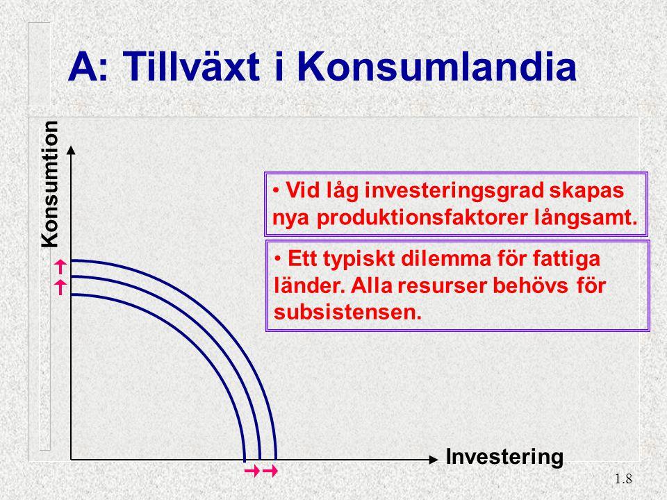 B: Tillväxt i Investlandia