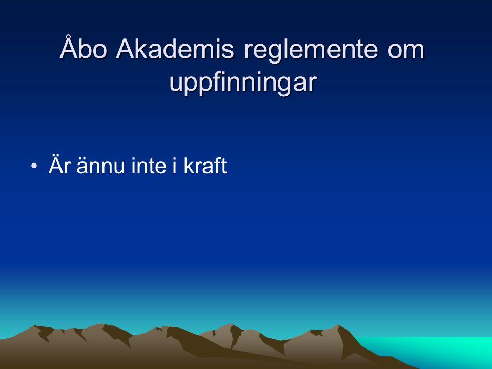 Åbo Akademis reglemente om uppfinningar